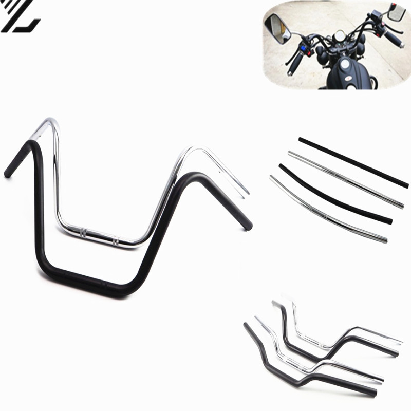 7 8inch 22mm Universal Motorcycles Bikes Cruve Bend Drag Handlebar Cafe Racer Fit For Honda Yamaha Harley Suzuki Triumph