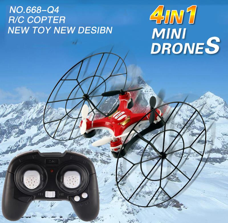 mini RC Drone 668-Q4 2.4GHz 4CH 6Axis Gyro Headless Model RC Quadcopter UFO Remote Control Toy for child best gift education toy