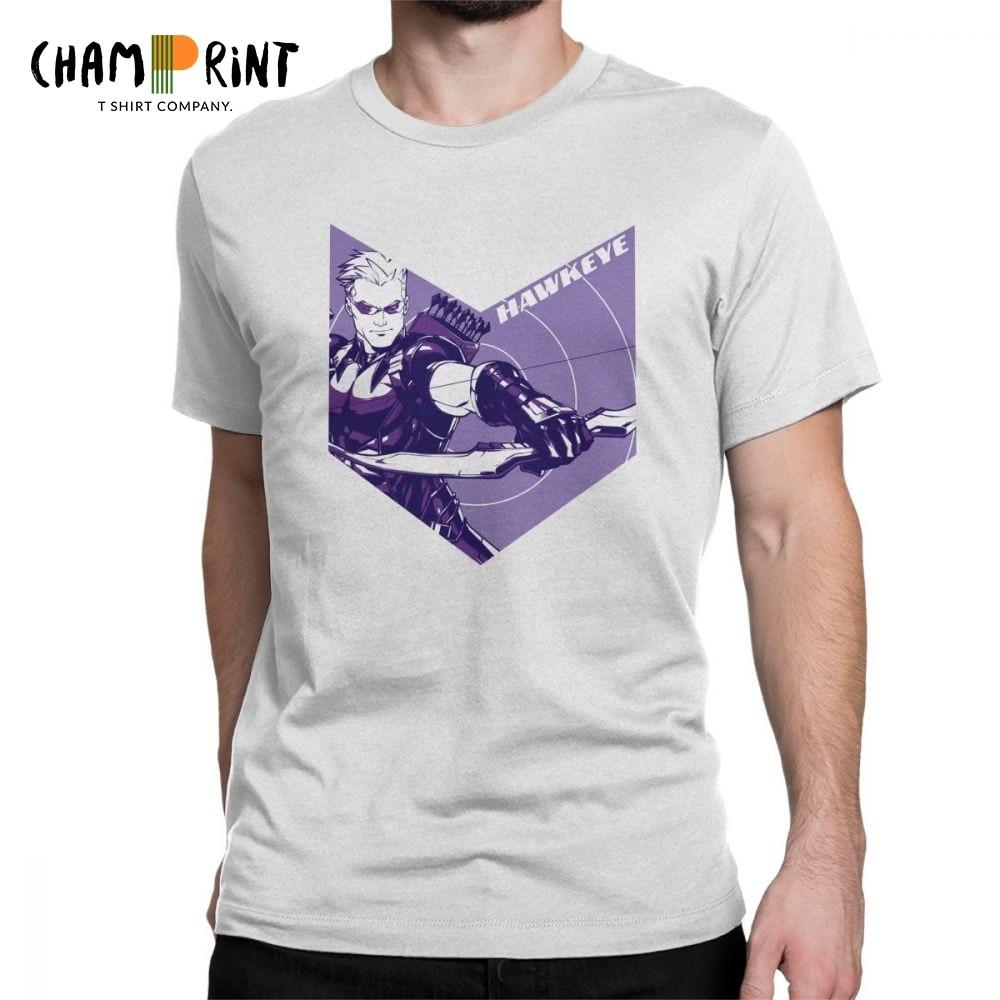 Novelty Marvel's The Avengers Hawkeye Arrow Cutout T-Shirts Men 100% Cotton T Shirt Short Sleeve Tee Shirt 4XL 5XL Clothes