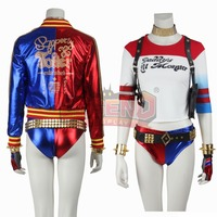 Cosplaylegend Harley Quinn Cosplay Adult Costume Custom Made Harley Quinn Full Set Blue Red