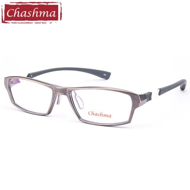 efca4b5d7a0 Chashma Brand Sport Style Men Eyeglass Titanium Frame Rubber Arms Super  Quality Eyeglasses Full Rimmed Optical Frames for Male