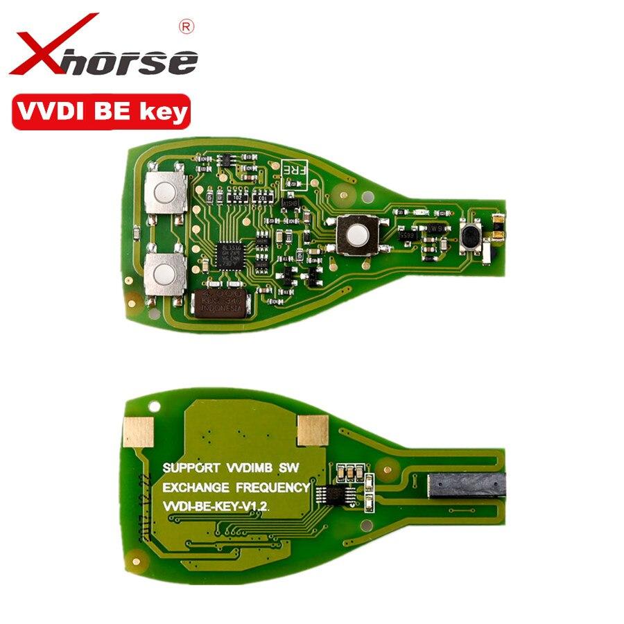 XHORSE VVDI clave Pro para Benz XNBZ01CH remoto de la llave Chip versión mejorada llave inteligente Shell 3 botón para Mercedes benz montaje