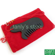 Wholesale and Retail Traditional Acupuncture Massage Tool / Guasha comb Natural Si Bian Black Stone 115x50mm 20pcs/lot