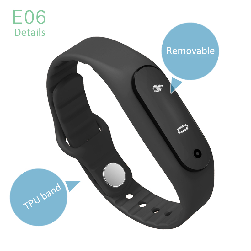 Smart Wristband E06 Touch Screen Better than Xiaomi MiBand ...