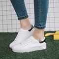 2016 Outono designer de plataforma valentine mulheres casuais sapatos de lona branca marca mulher andando de sapato senhoras planas alpercatas