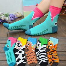 1pair 3D Printed Socks Women New Unisex Cute Low Cut Ankle Multiple Colors Cotton sock Womens Casual Charactor