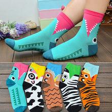 1pair 3D Printed Socks Women New Unisex Cute Low Cut Ankle Socks Multiple Colors Cotton sock Women's Casual Charactor Socks