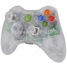 Custom Clear Transparent Wireless Controller Shell and Full Buttons Housing Case for Microsoft XBox 360 Joysticks Gaming Parts
