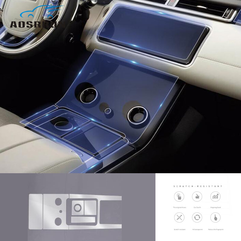 Car styling transparent protective film Central control film Car Accessories For Range Rover Velar 2019 2017 2018