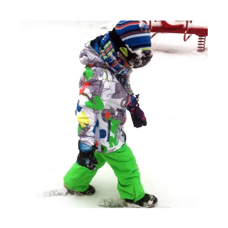 Free Shipping Children ski suit Gsou Snow skiing jacket pants boys waterproof warm keeping sport wear windproof outdoor breath