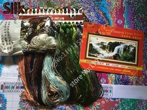 Image 5 - QIANZEHUI,Needlework,DIY Precision printing Landscape painting Cross stitch,rising sun Sets For Embroidery kits Cross Stitch
