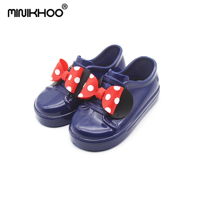Mini Melissa 2018 Mickey Minnie Bow Girls Sandals Mickey Jelly Shoes Children Girls Melissa Sandals Beach Shoes High Quality