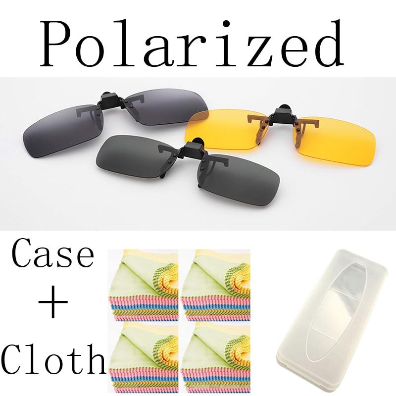 Polariserade 4 färger Polaroid Day Vision Clips på solglasögon Nattkörning Glasögon Myopia solglasögon Anti-UVA Anti-UVB 5906