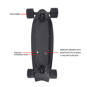 Image 4 - חדש חשמלי סקייטבורד עם מוסיקה קל משקל קטנוע E סקייטבורד E אופניים ליתיום סוללה מופעל עבור למבוגרים