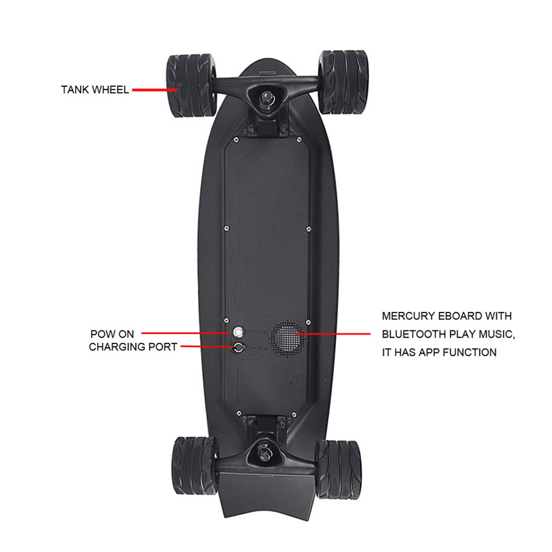 Image 4 - New Electric Skateboards with Music Lightweight Scooter E Skateboard E Bicycle Lithium Battery Powered for Adult-in Skate Board from Sports & Entertainment