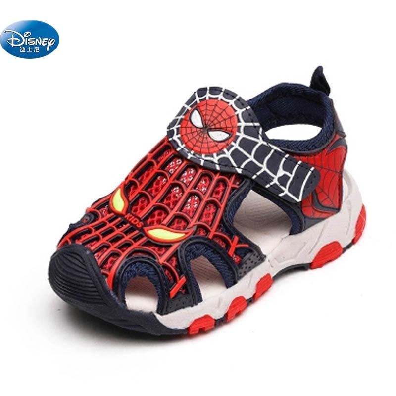 Disney kids Spider-man Closed sandals Summer children sport soft Beach shoes Europe size 26- 31