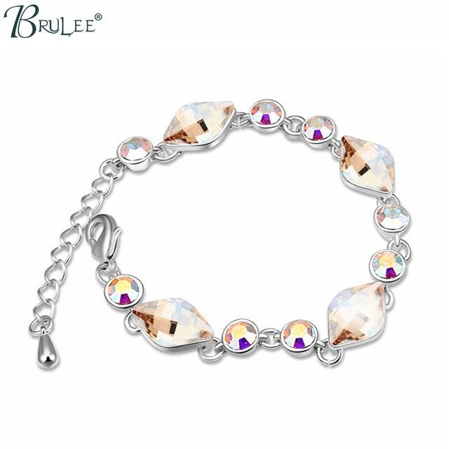 2017 New Fashion Crystal from Swarovski Bracelet Water Drop Bradawl Luxury Bangles Women Trendy Jewelry Wholesal