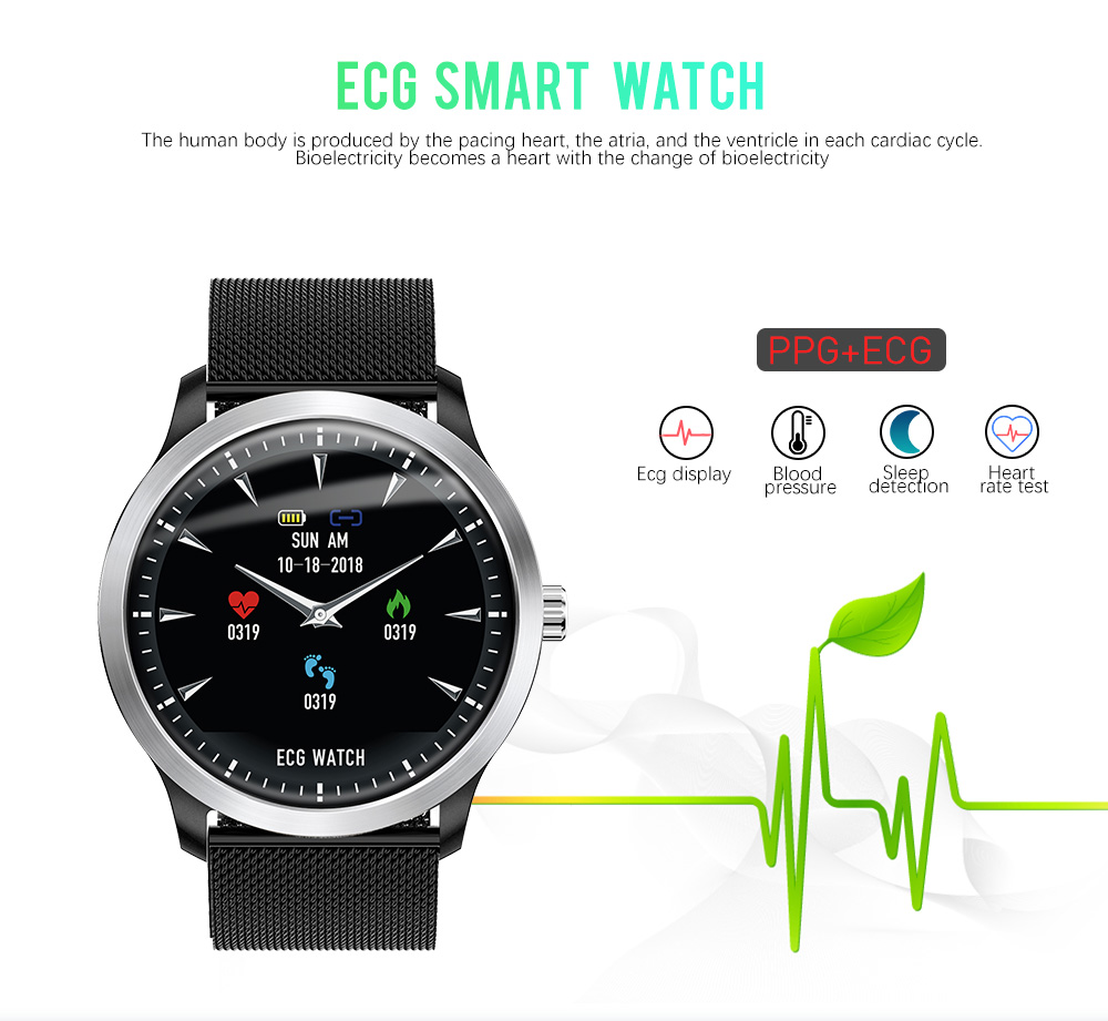 LEMFO N58 ECG PPG Smart watch men women with electrocardiograph ecg display holter ecg heart rate monitor blood pressure smartwatch Fitness bracelet (1)
