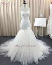 Здесь можно купить  Liyuke Short Sleeve Elegant Mermaid Wedding Dresses 2017 Beading Crystals Appliques Mermaid Vestido De Noiva Custom Made