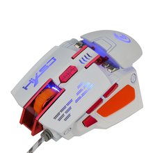2017 HXSJ X200 USB Wired Competitive Gaming Mouse Macro Definition Programming Game Mice Adjustable 4000DPI LED Lighting For PC