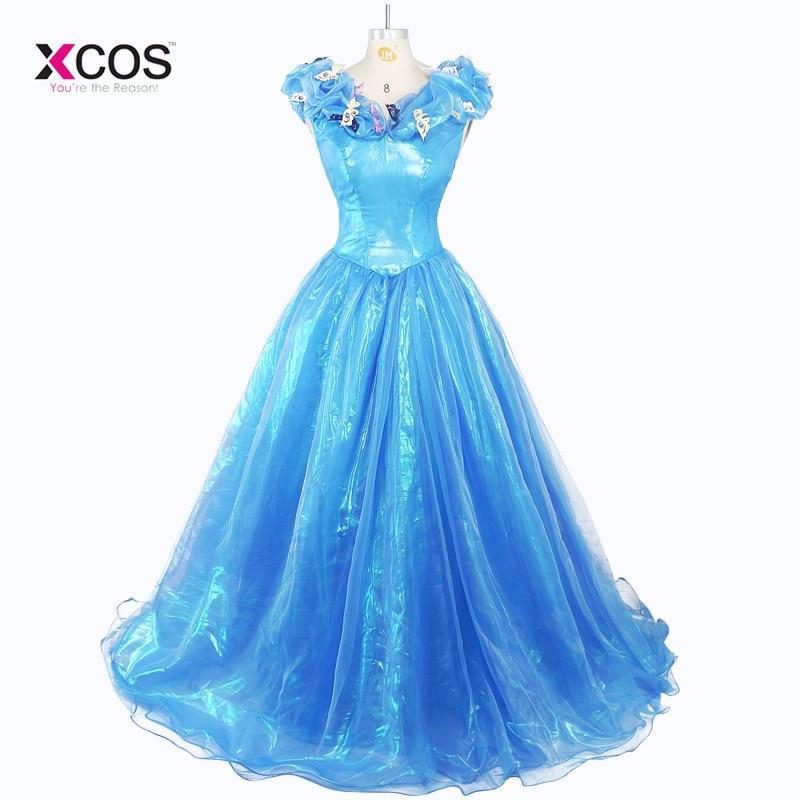 Real Image Cinderella Ocean Blue Prom Dresses Off Shoulder Beaded ...