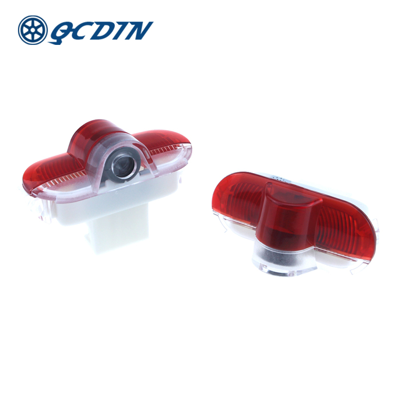 QCDIN for FORD Pair Car LED Door Welcome Logo Light Laser Decoration Shadow Projector Light Quick