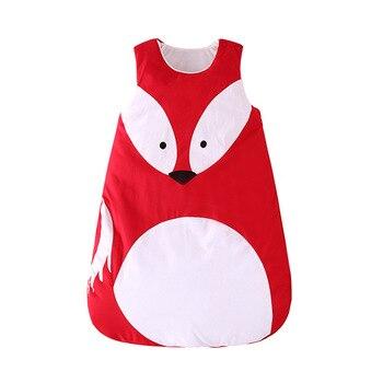 Спальный мешок с пандой и лисой для малышей, хлопковый спальный мешок для младенцев, зимний спальный мешок для детей, детские пижамы, спальн...