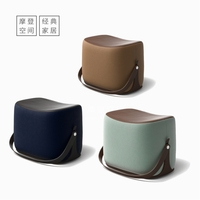 Living room Chair Sofa Ottoman makeup stool/foot stool/Hi Q microfiber leather with Cashmere portable stool/shoe ottoman