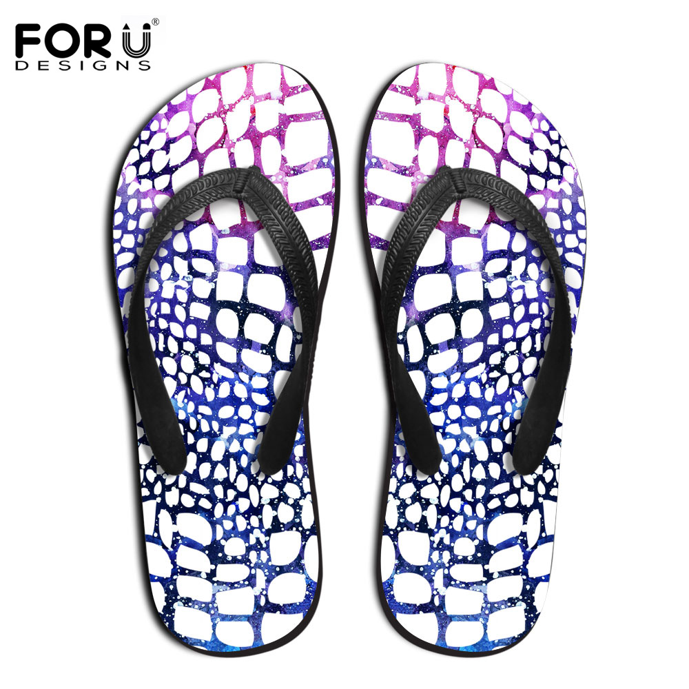 Fashion Novelty Men's Flip Flops New Design Serpentine Leopard Printed Slippers Summer Beach Sandals Male Flat Shoes Size 39-44 hot sale new 2016 summer eva shoes fashion flip flops men sandals male flat massage yellow beach slippers size 39 44