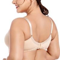 Drop Ship Ultra thin Womens Wire Free Full Coverage Underwear Lace Breastfeeding Front Closure Bra 34 36 38 40 42 B C D DD E F
