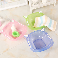 Newborn Baby Tubs Boys And Girls Cartoon Washbasin Infants Plastic 3 Colors Bathtub Toddlers Foots Ass Bath Shower Tub Kids Care