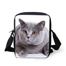 Marke Design Britischen Kurzhaar Schwarze Katze Frauen Messenger Bags Lässige Umhängetaschen, Dame Kleine Reise Schulter Umhängetasche