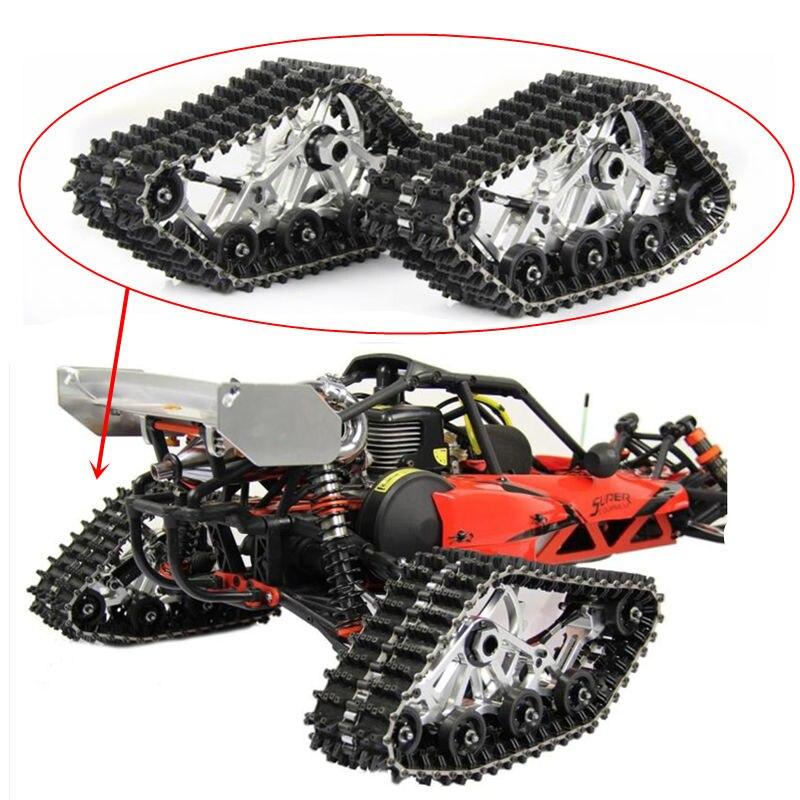 Baja chenille neige sol arrière pneus chenille bande spéciale piste roue pour 1/5 HPI KM Rovan BAJA 5B 5 T RC voiture amélioré pièces