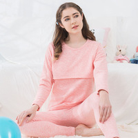 Furried And Thickened Monthly Wear Lactation Nightwear Suit Customized New Winter Pregnant Women's Warm Underwear Wholesale