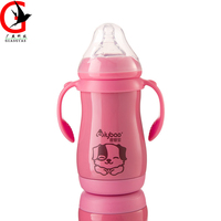Double stainless steel insulation bottle baby feeding bottle With straw Wide caliber bottle maternal infant supplies SJ-9042