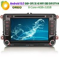 Android 8.0 Car DVD player for VW Amarok DAB+ Autoradio GPS Car NAVI WiFi 4G CD Radio RDS OBD BT USB SD DVR Bluetooth DTV IN