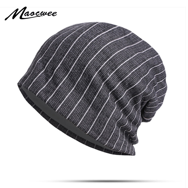 Ladies Classic Striped   Beanie   Hat New Outdoor Casual Fashion Women's Loose Hat Good-Looking Knit Fashion Girl   Beanies   Cap