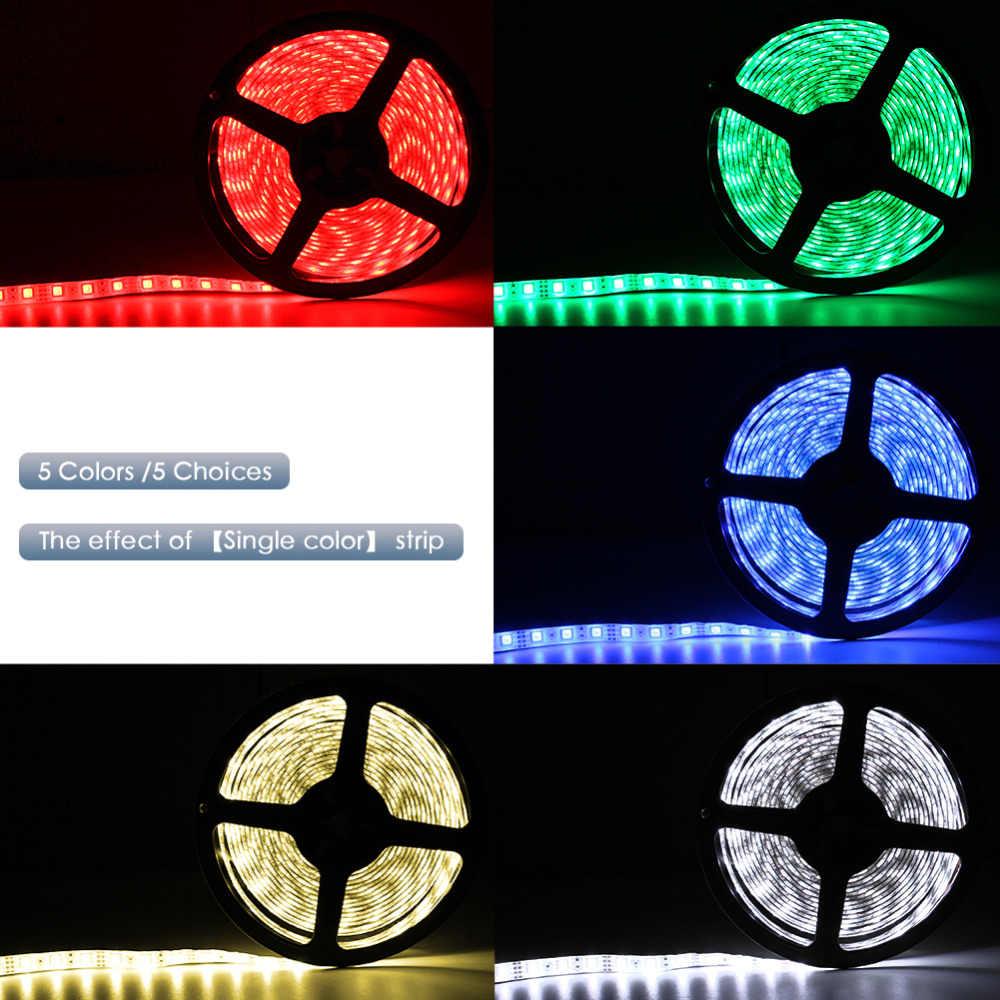 3key fita led usb dc 5v, 50cm, 1m, 2m, 3m, 4m ou 5m lâmpada de luz flexível 24key, smd 2835, decoração de mesa, iluminação de fundo de tv