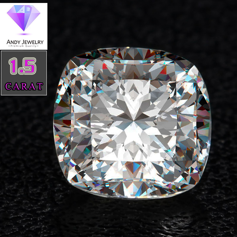 цены DEF Color Old Mine Cut Antique Cushion 7mm 1.5 Carat White Moissanite Diamond For Jewelry