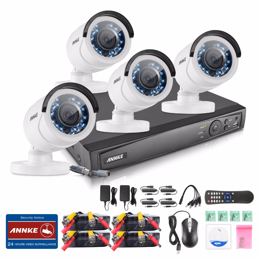 ANNKE 1080P 4CH HD TVI 4 in1 DVR VCA 2MP IR Day Night CCTV Camera Security System DT41Y DVR free shipping original projector lamp dt00231 umprd190hi for cp s860 cp s958w cp s960w cp s970w cp x860w cp x958w