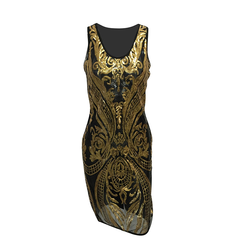 MUXU Sexy summer dress shoulder strap sleeveless strapless glitter dress  bandage gold sequin fashionable dresses clothes women-in Dresses from  Women s ... 1b1efeef151f