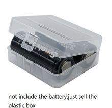10pcs/lot translucent 26650 Battery Case Organizer for 2PCS Li-ion batteries Plastic Holder Storage Box