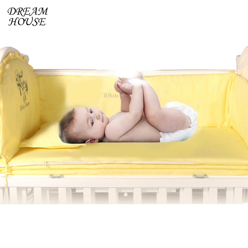 1set Baby Protect Bumpers Newborn Room Decor Cots Infant Cute Cartoon Cushions Girl Boy Bedroom Cribs Baby Bed Bumpers creative cartoon baby cute led act the role ofing boy room bedroom chandeliers children room roof plane light absorption