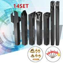 12mm 21Pcs/Set Shank Lathe Turning Tool Holder Boring Bar +Insert+Wrench S12M-SCLCR06/SER1212H16/SCL1212H06(China)