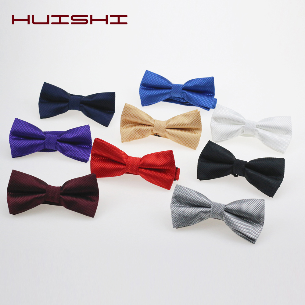 HUISHI Classic Kid Bowtie Boy Gril Baby Children Bow Tie Fashion Check Solid Color Mint Green Red Black White Green Pets Cravat