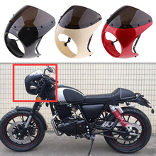 1 Pcs 175mm / 6.9 Motorcycle Universal Retro Headlight Fairing Wind Screen ABS Plastic For Cafe Racer Accessories