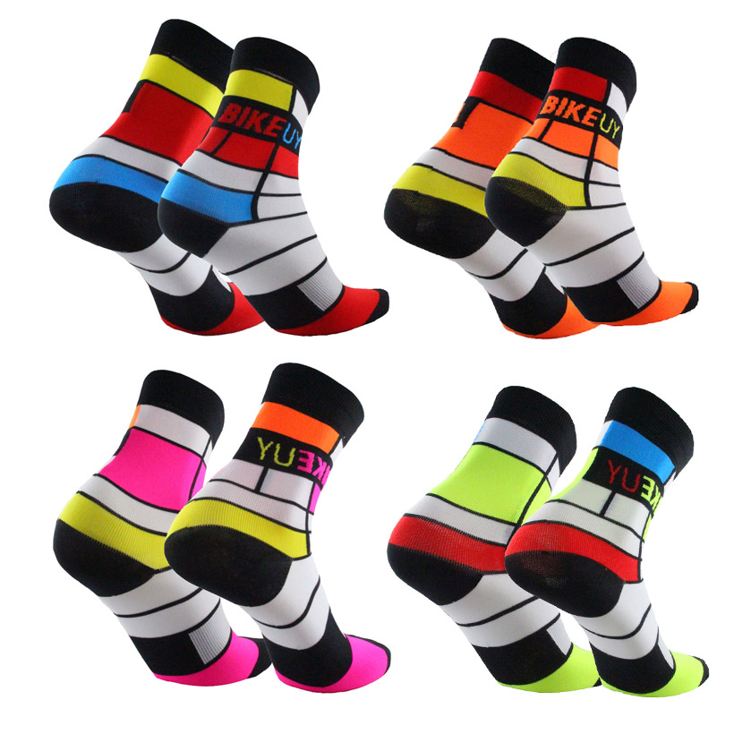2019 New Bike Socks Men Bicycle Professional Brand Sport Socks Protect Feet Breathable Wicking Cycling Socks To Suit The People'S Convenience
