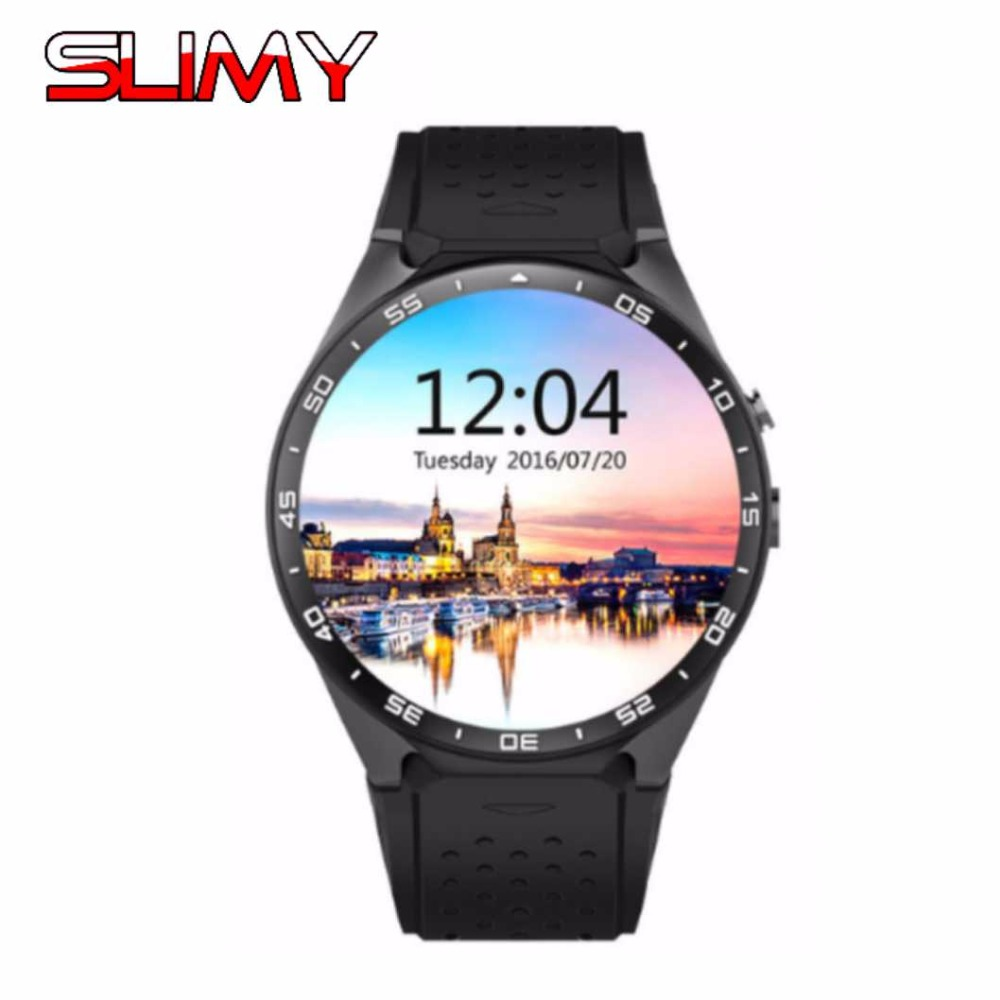 Slimy Smart Watch 3G Android 5.1 WiFi GPS Bluetooth Sport Wristwatch Phone Dial Call Clock Fitness Tracker PK KW88 H1 Smartwatch мобильный телефон htc g6 a6363 android gps wifi 5mp