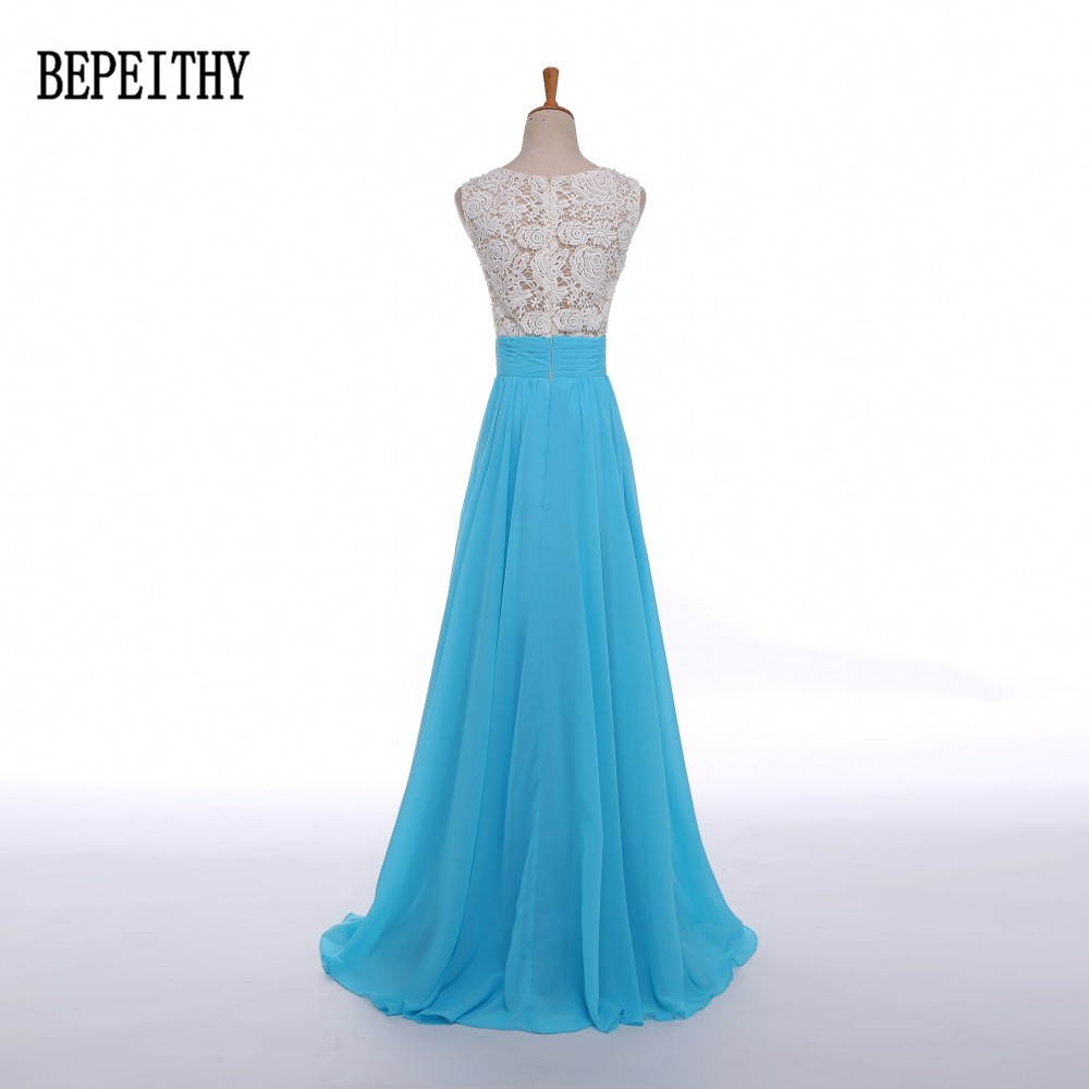 BEPEITHY Elegant Chiffon Long Dress Party Evening Elegant Custom ...