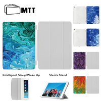 MTT Watercolor Dyes Design Case For IPad Air 1 IPad Air 2 Case Thin PU Leather